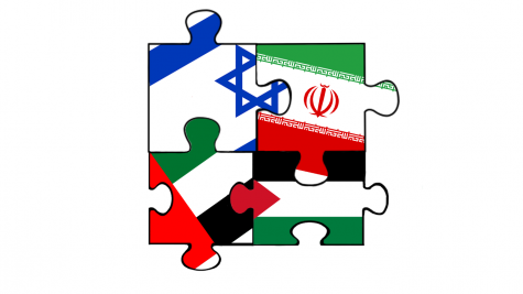 "A graphic depicts Israel, Iran, UAE and Palestine flags interlocked in a puzzle to show the evolving relationships of the Middle Eastern countries. Normalization may put peace on the horizon, but where to go looking forward still looks puzzling. ""This is going to have to take generations of this normalization working,"" GT Humanities and Human Geography teacher Noel Witte said. ""But I hope that they can."""