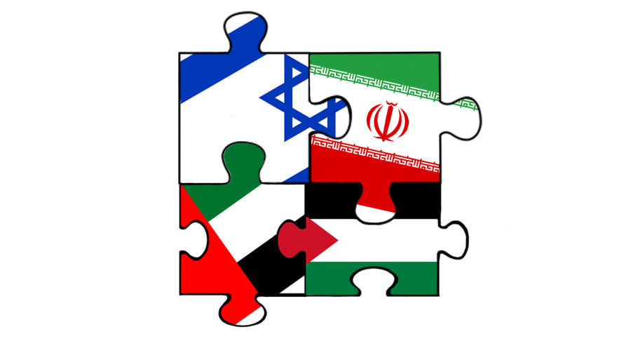 A graphic depicts Israel, Iran, UAE and Palestine flags interlocked in a puzzle to show the evolving relationships of the Middle Eastern countries. Normalization may put peace on the horizon, but where to go looking forward still looks puzzling.