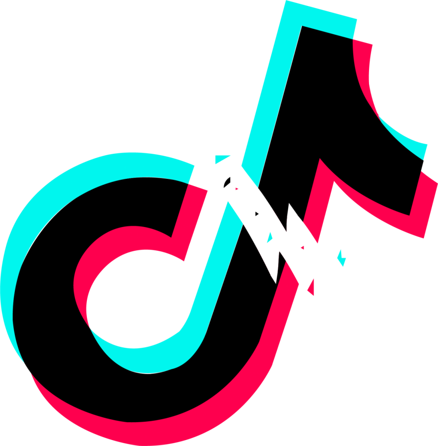 The TikTok app logo sits broken in half. Tik Tok is an app with a huge following in the U.S.