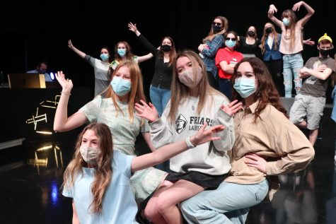 Musical theatre class prepares for performance of original musical
